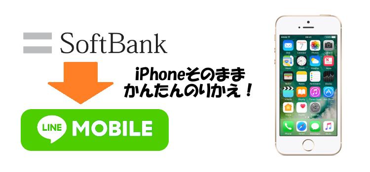 SoftbankからLINEモバイルにiPhoneそのままかんたんのりかえ!