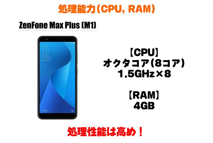 ZenFone Max Plus (M1)の処理能力