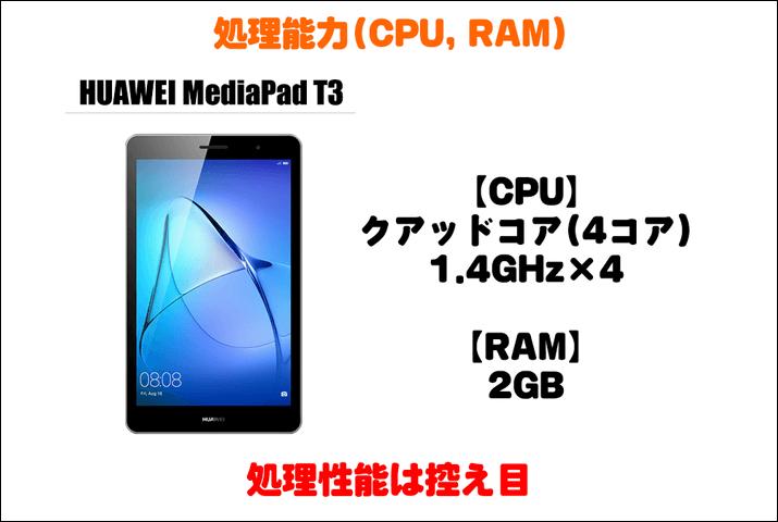 HUAWEI MediaPad T3の処理能力