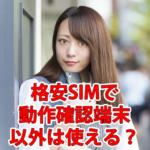 格安SIMで動作確認端末以外は使える?おすすめのキャリアまとめ