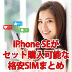 iPhone SEを格安SIMで使う&購入する時のおすすめ
