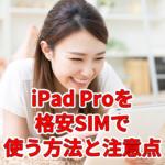 【2020年版】iPad Proを格安SIMで使う方法と注意点