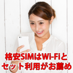 格安スマホ/SIMはワイファイ(Wi-Fi)とセット利用がお薦め