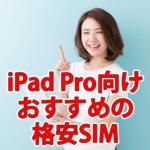 iPad Pro 10.5インチを格安SIMで使うのにおすすめの会社
